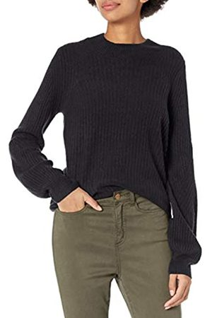 Daily Ritual Mid-Gauge Stretch Balloon Sleeve Crewneck Sweater pullover-sweaters