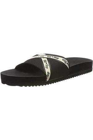 flip*flop Damen pooltape Pantoletten, (Black 0000)