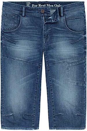 JP 1880 Herren große Größen bis 7XL, 3/4-Jeans-Bermuda, Modisch vorgewaschen, bequem geschnitten, 5-Pocket-Passform, Normale Oberschenkel- und Beinweite