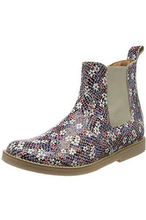 Froddo Mädchen G3160117 Girls Chelsea Boots, Mehrfarbig (Flowers I75)
