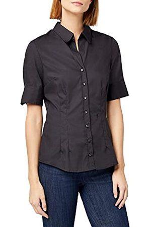 Seidensticker Damen Bluse – Bügelfreie, schmal taillierte Hemdbluse mit Hemdblusen-Kragen und Kragen-Ausschnitt