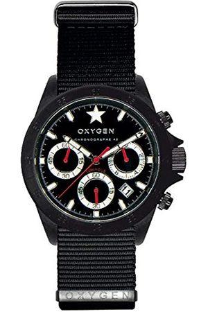 Oxygen Unisex-Armbanduhr Chronograph Quarz Nylon EX-C-REC-42-NN-BL