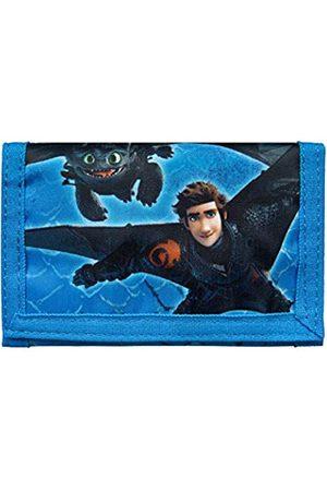 UNDERCOVER DRRA7010 - Geldbörse mit Klettverschluss, Geldscheinfach, Münzfach und Kartenfächern, Dreamworks Dragons mit Ohnezahn und Hicks, ca. 8 x 13 x 0