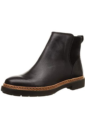 Clarks Damen Trace Fall Chelsea Boots, (Black Leather)
