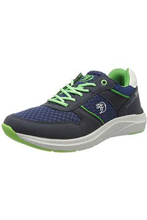TOM TAILOR Herren 8085303 Sneaker, Mehrfarbig (Navy-Neon Green 02253)