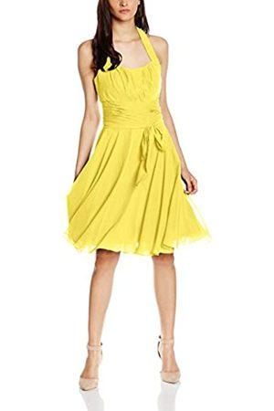 Astrapahl Damen Cocktail Kleid Neckholder, Knielang, Einfarbig, Gr. 38
