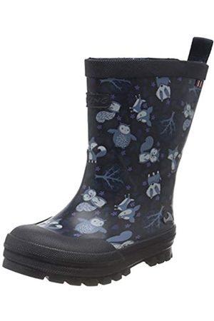 Viking Unisex-Kinder Jolly Woodland Gummistiefel, (Navy/Multi 550)