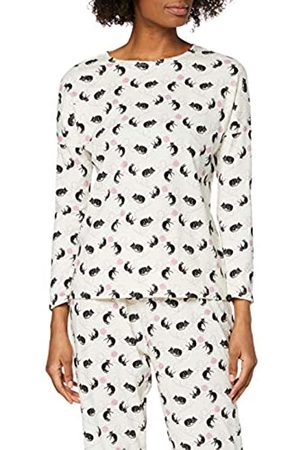 People Tree Peopletree Damen Cat Print Pyjama Long Sleeve Top Schlafanzugoberteil