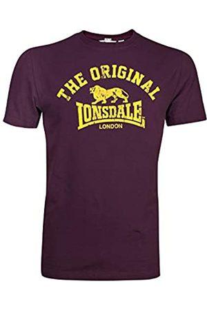 Lonsdale London Unisex Langarmshirt T-shirt Regular Fit Original (altmodisches weinrot) Medium