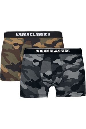 Urban classics 2-Pack Camo Boxer Shorts Boxershort-Set woodcamo/darkcamo