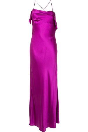 Michelle Mason Cocktailkleid mit drapiertem Ausschnitt