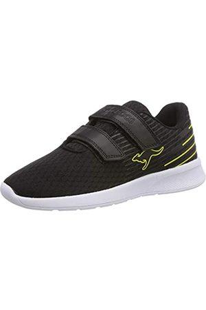 KangaROOS Unisex-Kinder KangaFOAM ACT V Sneaker, (Jet Black/Neon Yellow 5062)
