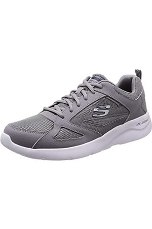 Skechers Men's Dynamight 2.0-fallford Trainers, Grey (Gray Leather/Mesh/Pu/Trim Gry)