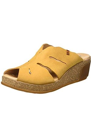 El Naturalista Damen N5009 Pleasant Leaves Pantoletten, (Curry Curry)