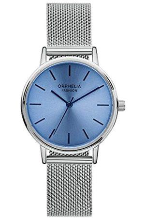 ORPHELIA Fashion Damen Analog Quartz Uhr Belt mit Mesh Edelstahl Armband