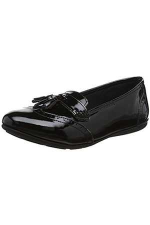 Hush Puppies Mädchen Esme Senior Mokassin, (Black)