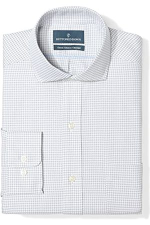 Buttoned Down Classic Fit Cutaway Collar Pattern Smoking Hemd, grey Houndstouth