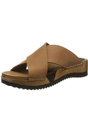 Sanita Damen Tida Sport Flex Sandale Pantoletten, (Cognac 15)