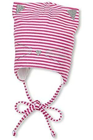 Sterntaler Mütze für Mädchen mit Bindebändern, Katzen-Design und Streifenmuster, Alter: 6-9 Monate, Größe: 45