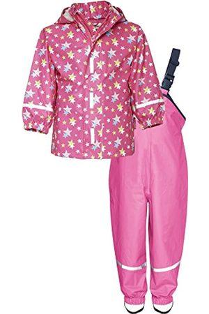 Playshoes Kinder Regenanzug, Zweiteiliger Matsch-Anzug für Jungen und Mädchen mit abnehmbarer Kapuze, mit Sternen-Muster