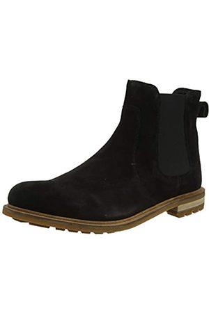 Clarks Herren Foxwell Top Chelsea Boots, (Black SDE Black SDE)