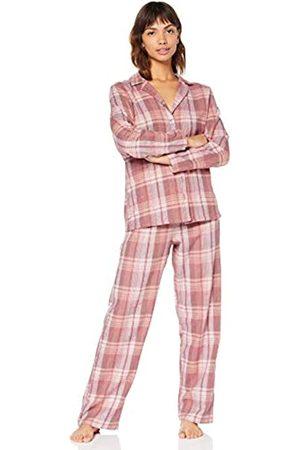 IRIS & LILLY Amazon-Marke: Damen Pyjama-Set aus Flanell, XS