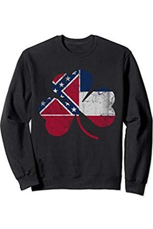 Popular St Patrick's Day T Shirts Mississippi Flag Shamrock St Patricks Day Irish Men Women Sweatshirt
