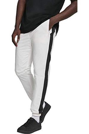 Urban classics Herren Hose Side Striped Crinkle Track Pants Wht/Blk Größe: M