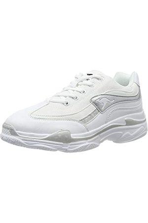 KangaROOS Damen Rave Sneaker, (White/Silver 0002)