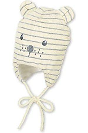 Sterntaler Unisex Mütze mit niedlichem Bärengesicht und abstehenden Öhrchen, Gefüttert mit Baumwoll-Fleece, Alter: 5-6 Monate, Größe: 43