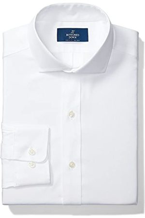 Buttoned Down Classic Fit Solid Pocket Options Smoking Hemd, White/no