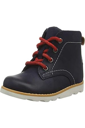 Clarks Jungen Crown Hike T Klassische Stiefel, (Navy Leather Navy Leather)