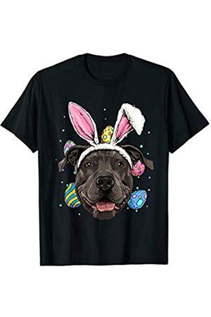 Wowsome! Easter Bunny Pit Bull Dog Kids Men Women Gift T-Shirt
