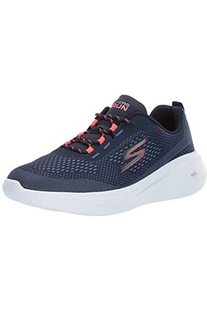Skechers Women's Go Run Fast Trainers, Blue (Navy Textile/Coral Trim Nvcl)