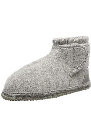 Möve Unisex-Kinder Woll-Boots Hüttenschuhe Hohe Hausschuhe, (Light Grey Melange 135)