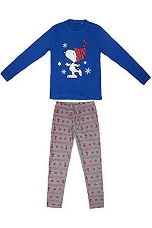 Artesanía Cerdá Damen Largo Snoopy Zweiteiliger Schlafanzug