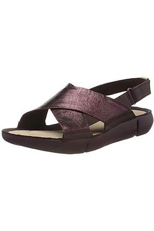 Clarks Damen Tri Chloe Sneaker, (Burgundy Leather Burgundy Leather)