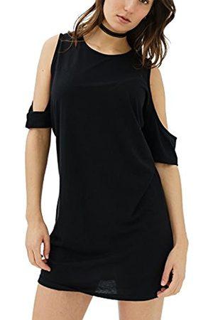 Trueprodigy Casual Damen Marken T-Shirt einfarbig Basic Oberteil Cool Stylisch Rundhals Kurzarm Slim Fit Shirt für Frauen, Größe:XL