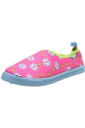 Playshoes Mädchen UV-Schutz Slipper Blumen Aqua Schuhe, Pink (Pink 18)