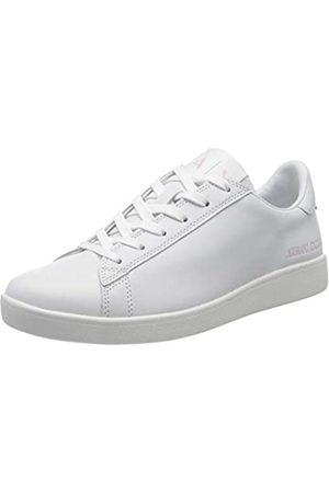 Armani Damen Action Leather Logo ax lace up Sneaker, (Black 00152)