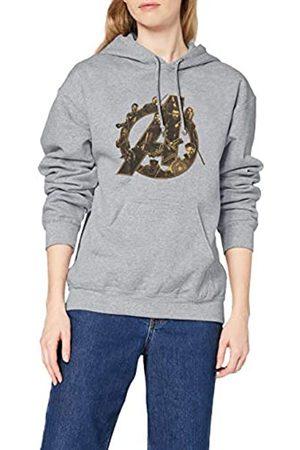 Marvel Damen Infinity War Avengers Logo, (Sports Grey SpGry) 38-Sweatshirt