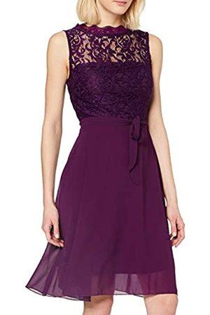 Intimuse Damen ärmelloses Cocktail Kleid mit Spitzendetails