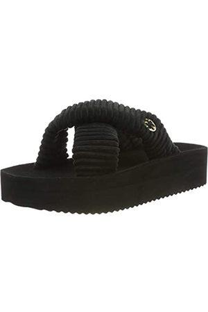 flip*flop Damen crosscord hi Plateausandalen, (Black 0000)