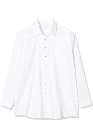 Seidensticker Herren Einfarbiges Hemd Mit Kent-Kragen Und Struktur – Regular Fit – Langarm Businesshemd