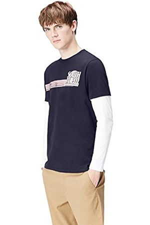 FIND Amazon-Marke: Herren Langarmshirt im Lagen-Look, L