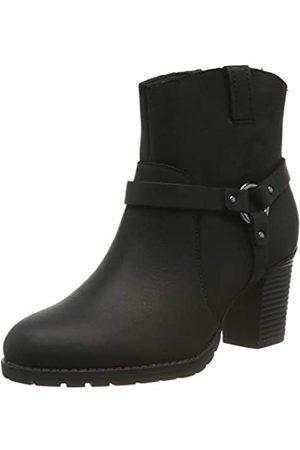 Clarks Damen Verona Rock Schlupfstiefel, (Black Leather)