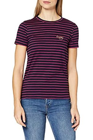 People Tree Peopletree Damen Happy Embroidered Stripe Tee T-Shirt