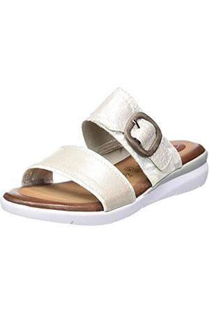 Jana 100% comfort Damen 8-8-27107-24 Pantoletten, (White/Silver 191)