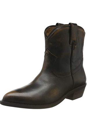 Buffalo Damen FAM Cowboystiefel, (Dark Brown 001)