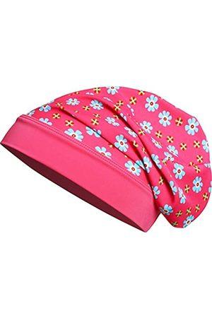 Playshoes Mädchen Mütze Beanie Blumen mit UV-Schutz M